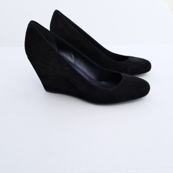 f3e1781b4a Via Spiga Shoes   Farley Suede Wedges Black   Poshmark